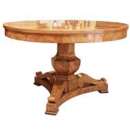 burl center table