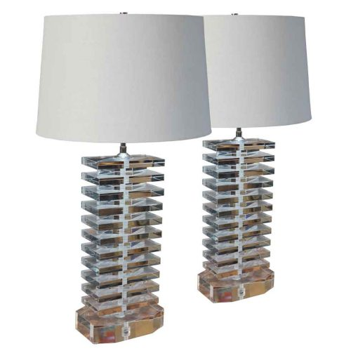 lucite lamps