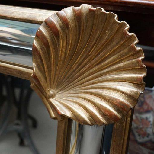 giltwood mirror detail