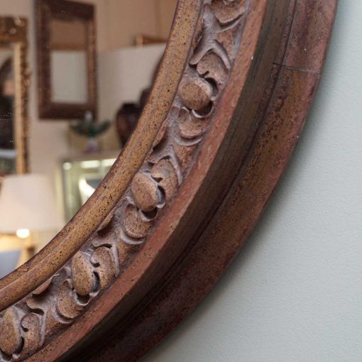 Carved French mirror detail
