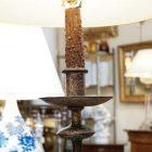Gilded floor lamp