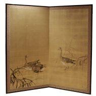 Geese taisho screen
