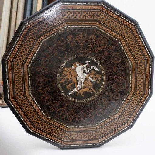 Neoclassical inlay table