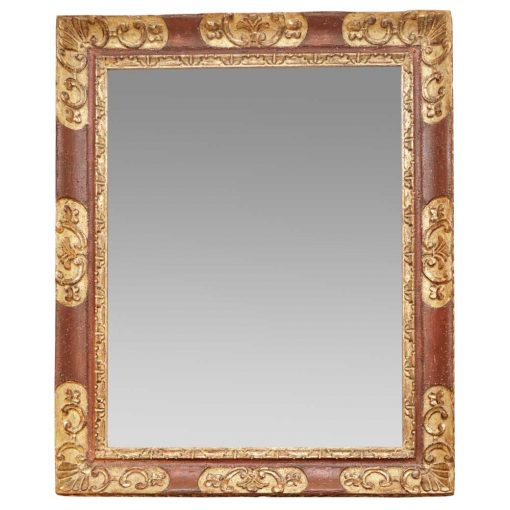 painted and giltwood mirror