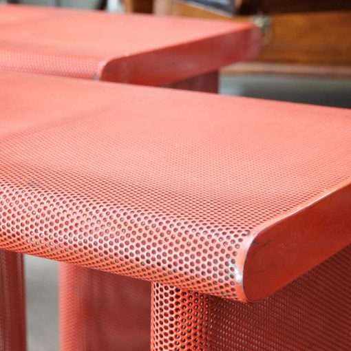 mategot red painted benches