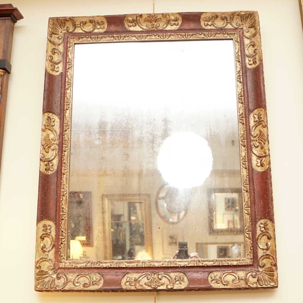Painted and giltwood mirror   Sutter Antiques   Hudson, NY