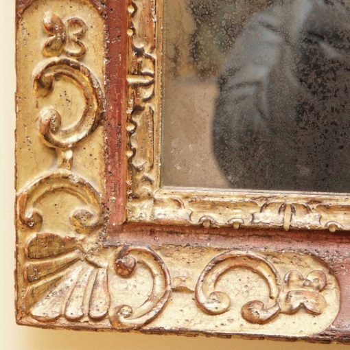 Italian gilt and painted mirror